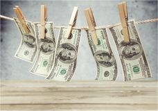 Lavagem de dinheiro Imagens de Stock Royalty Free