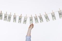 Lavagem de dinheiro Fotos de Stock