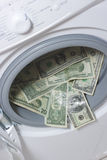 Lavagem de dinheiro. Conceito da limpeza do dinheiro Imagem de Stock Royalty Free
