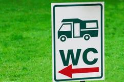 Lavagem do caminhão do sinal Imagem de Stock Royalty Free