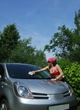 Lavagem do carro Fotografia de Stock Royalty Free