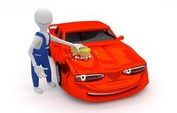 Lavagem do carro da mão Imagens de Stock