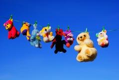 Lavagem dos brinquedos Fotografia de Stock
