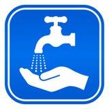 A lavagem entrega o sinal Foto de Stock