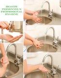 Lavagem profissional da mão Imagens de Stock