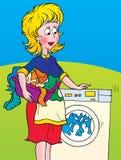 Lavaggio illustrazione di stock