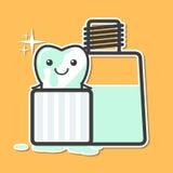 Lavaggio del dente in colluttorio Fotografia Stock Libera da Diritti