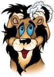 lavaggio del leone Immagini Stock