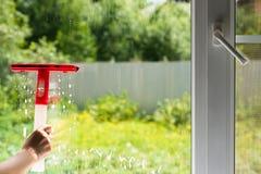 Lavaggio della finestra immagini stock
