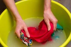 Lavaggio della mano Fotografie Stock