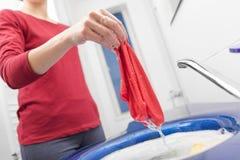 Lavaggio della mano con Fotografie Stock