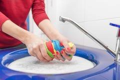 Lavaggio della mano con fotografia stock libera da diritti