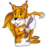 Lavaggio dello scoiattolo Immagini Stock