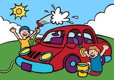 Lavaggio di automobile Immagine Stock Libera da Diritti