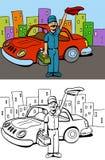 Lavaggio di automobile illustrazione di stock