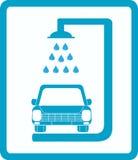 Lavaggio di automobile del segno Fotografia Stock Libera da Diritti