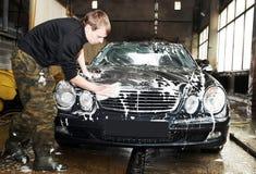 Lavaggio manuale dell'automobile Immagini Stock