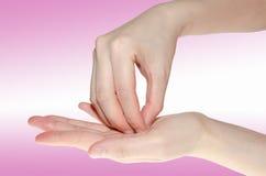 Lavaggio medico professionale della mano Fotografie Stock