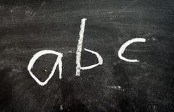 Lavagna - ABC Immagine Stock Libera da Diritti
