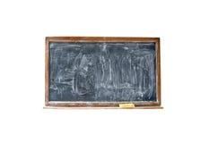 Lavagna in bianco con l'eraser nel telaio di legno Fotografie Stock Libere da Diritti