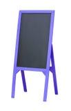 Lavagna in bianco del menu nel telaio di legno Fotografia Stock Libera da Diritti