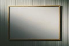 Lavagna in bianco nell'ufficio, bordo bianco come spazio della copia Immagini Stock Libere da Diritti