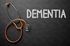 Lavagna con il concetto di demenza illustrazione 3D Immagine Stock