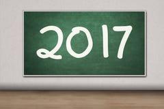 Lavagna con il numero 2017 Immagini Stock Libere da Diritti