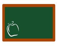 Lavagna con il profilo di Apple illustrazione di stock