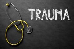 Lavagna con il trauma illustrazione 3D Immagine Stock