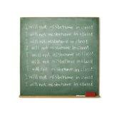 Lavagna con un messaggio di disciplina scritto su esso Fotografia Stock
