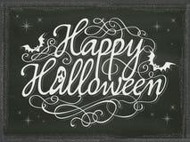 Lavagna d'annata del fondo del segno di Halloween Fotografia Stock