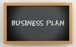 lavagna 3d con il testo del business plan royalty illustrazione gratis