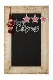 Lavagna dei nuovi anni di Buon Natale Immagine Stock Libera da Diritti