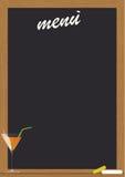 Lavagna del menu Fotografie Stock