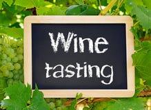 Lavagna dell'assaggio di vino Fotografia Stock