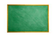 Lavagna della lavagna con il blocco per grafici isolato Tex nero del bordo di gesso Immagini Stock