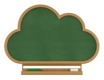 Lavagna della nuvola su bianco Fotografie Stock Libere da Diritti