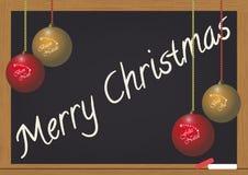 Lavagna di Buon Natale Fotografia Stock Libera da Diritti