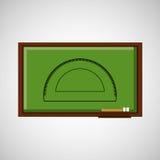 Lavagna di concetto di istruzione con il goniometro illustrazione di stock