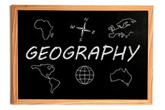 Lavagna di geografia illustrazione vettoriale