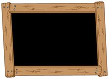 Lavagna di legno Fotografia Stock
