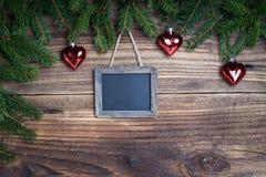 Lavagna di Natale Fotografia Stock Libera da Diritti