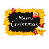 Lavagna di Natale Fotografie Stock Libere da Diritti
