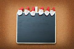 Lavagna di Natale Immagini Stock