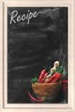 Lavagna di ricetta Fotografia Stock