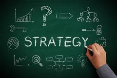 Lavagna di strategia Fotografia Stock