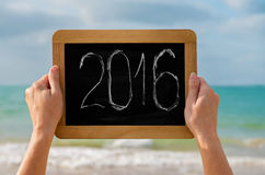 Lavagna e cifre 2016 Fotografia Stock