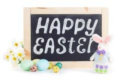 Lavagna felice di Pasqua Immagini Stock Libere da Diritti