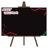 Lavagna gigante di Natale sul cavalletto Fotografia Stock